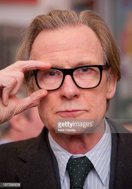 Bill Nighy attends the David Hockney Private View at the Royal Academy of Arts on January 17 2012 in London England