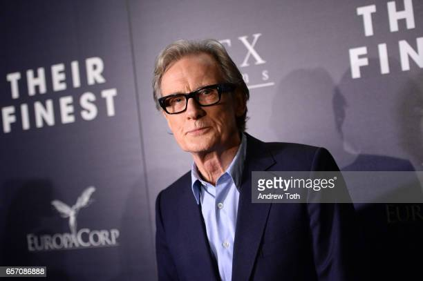 Bill Nighy attends the premiere of 'Their Finest' hosted by STXfilms and EuropaCorp with The Cinema Society at SVA Theatre on March 23 2017 in New...