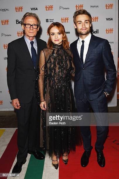 Bill Nighy Oliva Cook and Douglas Booth attend The Limehouse Golem premiere during the 2016 Toronto International Film Festival at Ryerson Theatre on...
