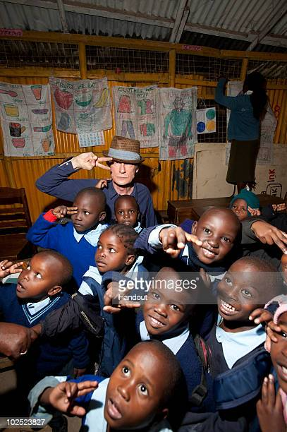 Bill Nighy visits Kicoshep a project funded by Comic Relief for people affected by HIV/AIDS on June 29th in Nairobi Kenya British Airways and Comic...