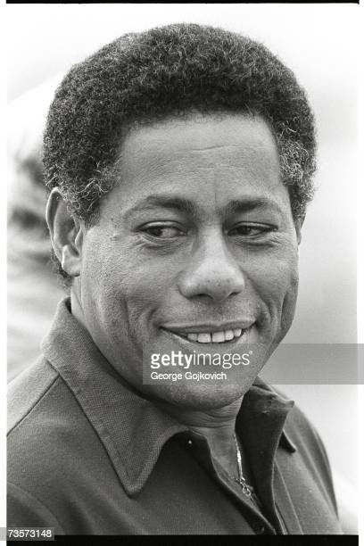 Bill Nunn, a member of the Pittsburgh Steelers player scouting staff, at summer training camp at St. Vincent College circa 1980 in Latrobe,...
