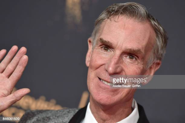 Bill Nye arrives at the 2017 Creative Arts Emmy Awards at Microsoft Theater on September 9 2017 in Los Angeles California