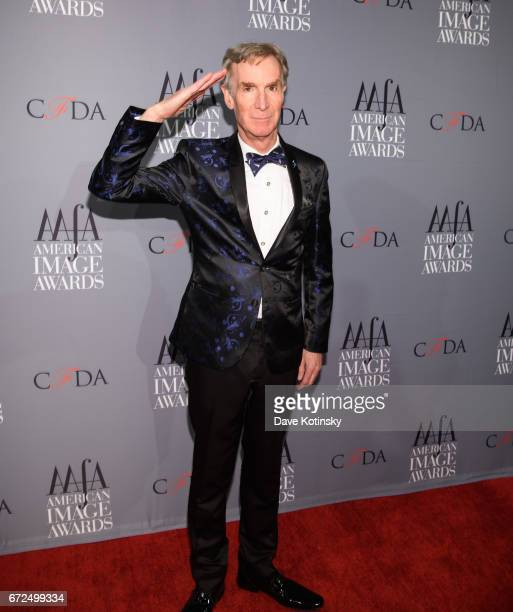 Bill Nye arrives at the American Apparel Footwear Association's 39th Annual American Image Awards 2017 on April 24 2017 in New York City