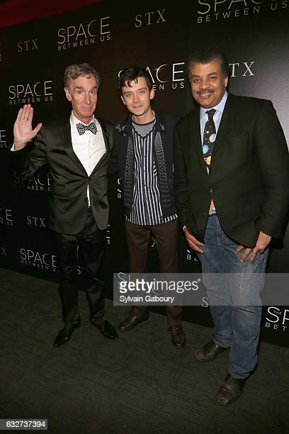 """Bill Nye, Asa Butterfield and Neil deGrasse Tyson attend STX Entertainment with The Cinema Society Host a Screening of """"The Space Between Us"""" on..."""