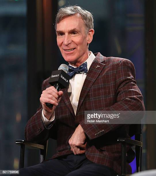 Bill Nye attends AOL BUILD Series Bill Nye 'Unstoppable Harnessing Science To Change The World' at AOL Studios In New York on December 17 2015 in New...