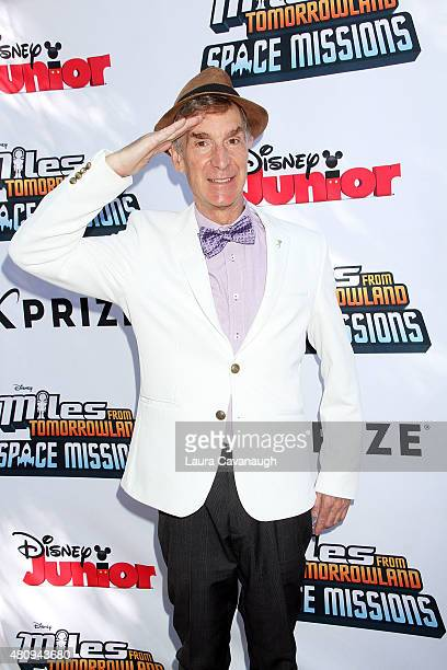 Bill Nye attends 'Miles from Tomorrowland Space Missions' Kick Off Event at New York Hall Of Science on July 16 2015 in New York City
