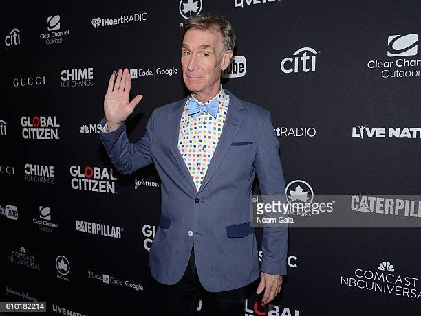 Bill Nye attends the 2016 Global Citizen Festival In Central Park To End Extreme Poverty By 2030 at Central Park on September 24 2016 in New York City