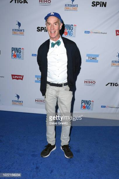 Bill Nye attends the 6th annual PingPong4Purpose at Dodger Stadium on August 23 2018 in Los Angeles California