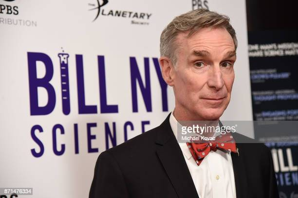 Bill Nye attends the Los Angeles Premiere of 'Bill Nye Science Guy' at Westside Pavilion on November 7 2017 in Los Angeles California