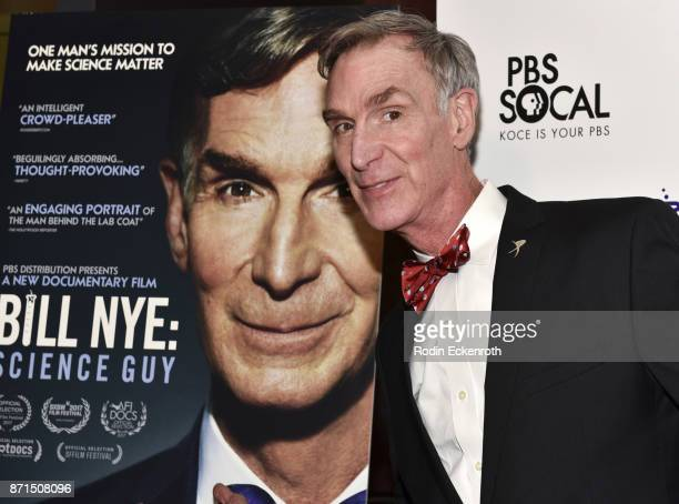 Bill Nye attends the premiere of PBS's 'Bille Nye Science Guy' at Westside Pavilion on November 7 2017 in Los Angeles California