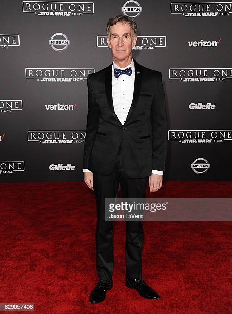 Bill Nye attends the premiere of Rogue One A Star Wars Story at the Pantages Theatre on December 10 2016 in Hollywood California
