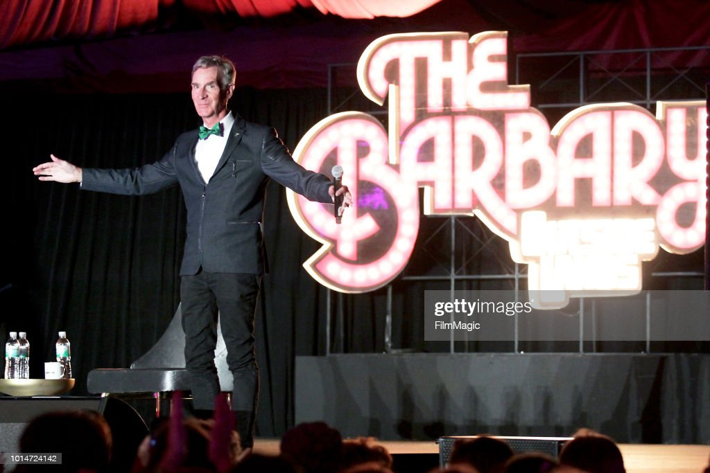 Bill Nye speaks on The Barbary Stage during the 2018 Outside Lands Music And Arts Festival at Golden Gate Park on August 10, 2018 in San Francisco, California.