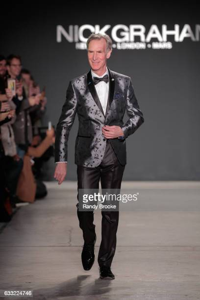 Bill Nye 'the science guy' at the Nick Graham Runway show during NYFW Mens at Skylight Clarkson North on January 31 2017 in New York City