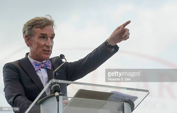 Bill Nye the Science Guy speaks at the Reason Rally 2016 at Lincoln Memorial on June 4 2016 in Washington DC