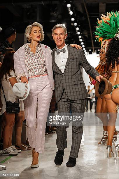 Bill Nye walks the runway at the Nick Graham presentation during New York Fashion Week Men's S/S 2017 at Skylight Clarkson Sq on July 13 2016 in New...