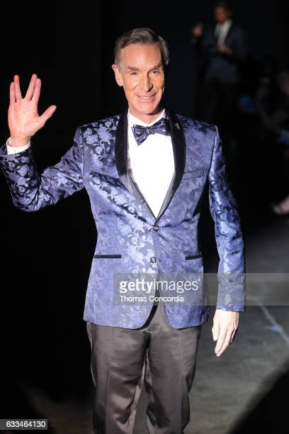 Bill Nye walks the runway during The Blue Jacket Fashion Show at NYFW Men's at Pier 59 on February 1 2017 in New York City