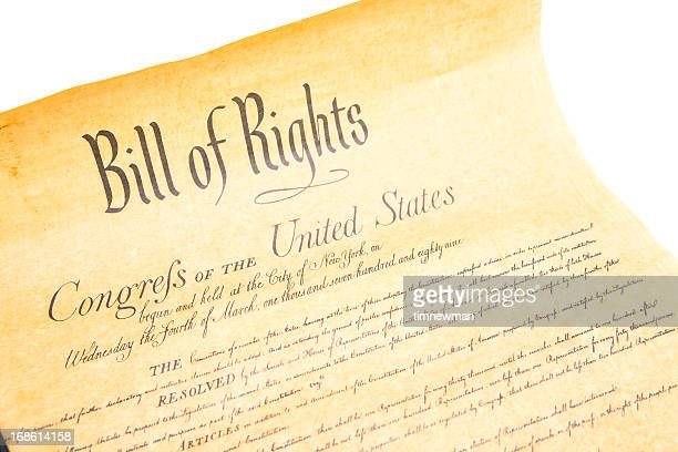 bill of rights congres the untied states - bill of rights stock photos and pictures