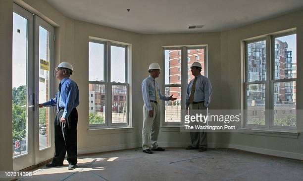 Bill O'Leary A huge condominium project by Ross Development in old town Rockville Pictured Scott Ross left Jack Jaeger center and H Michael...