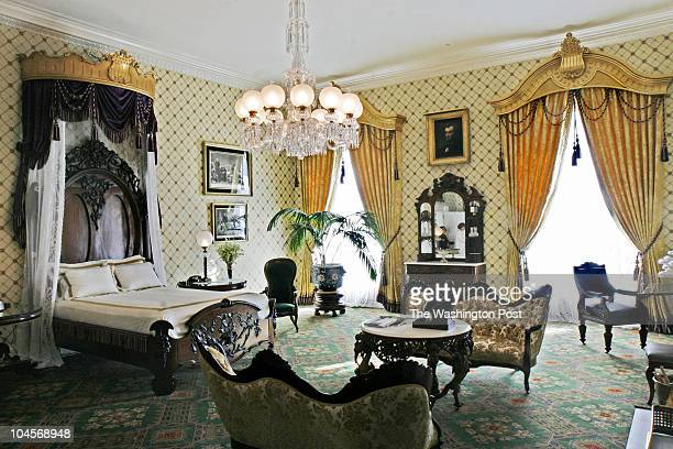 Bill O'Leary First Lady Laura Bush has just finished redecorating the Lincoln bedroom and adjoining sitting room Pictured First Lady Laura Bush has...