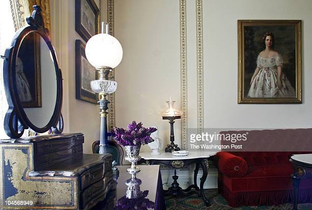 Bill O'Leary First Lady Laura Bush has just finished redecorating the Lincoln bedroom and adjoining sitting room Pictured a view of the adjoining...