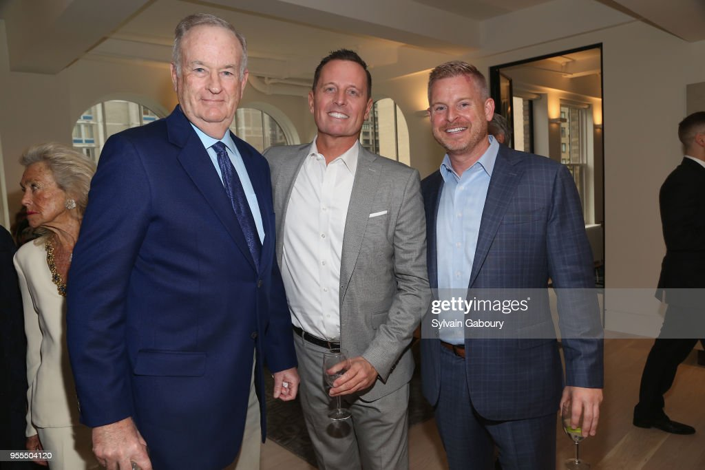 Bill O'Reilly, Ambassador Richard Grenell and Matt Lashey attend Ambassador Grenell Goodbye Bash on May 6, 2018 in New York City.