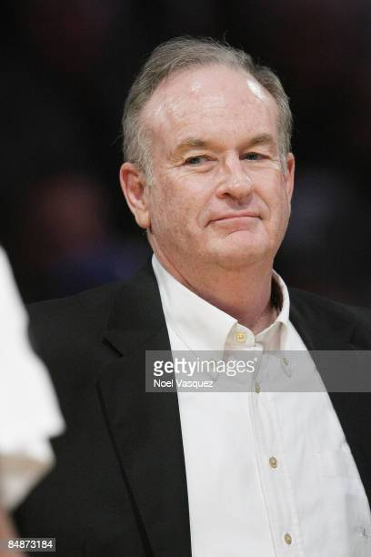 Bill O'Reilly attends the Los Angeles Lakers vs Atlanta Hawks game at the Staples Center on February 17 2009 in Los Angeles California