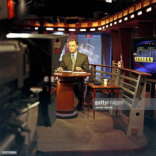 Bill O'Reilly on the set of his show 'The O'Reilly Factor' at Fox News headquarters in New York