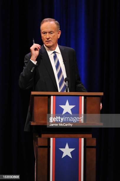 Bill O'Reilly onstage at O'Reilly Vs Stewart 2012 The Rumble In The AirConditioned Auditorium at Lisner Auditorium at George Washington University on...