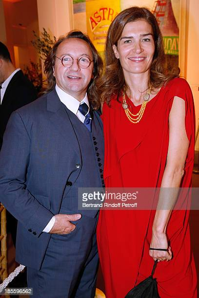 Bill Pallot and Capucine Motte attend the the dinner of the friends of the 'Musee d'Art Moderne de la ville de Paris' on October 22 2013 in Paris...