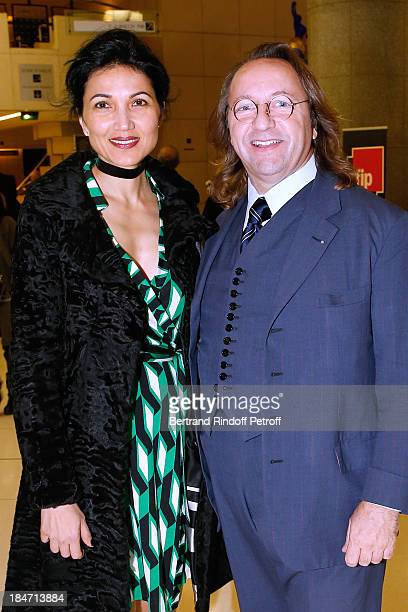 Bill Pallot and Dina Daswani Lloyd attend AROP Gala at Opera Bastille with a representation of 'Aida' on October 15 2013 in Paris France