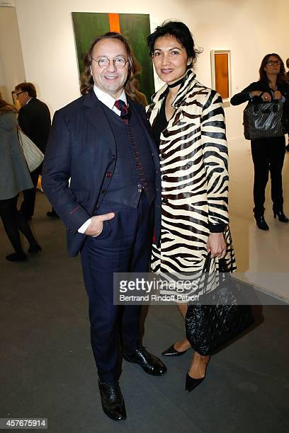 Bill Pallot and his companion Dina Daswani Lloyd attend the FIAC 2014 International Contemporary Art Fair Official Opening at Le Grand Palais on...