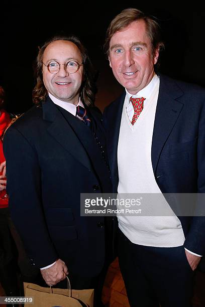 Bill Pallot and Prince Charles Henri de Lobkowicz attend photographer of 'Point de Vue' magazine Luc Castel signs his book 'Yves Saint Laurent Les...