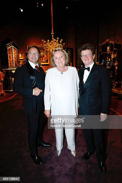 Bill Pallot Maryvonne Pinault and Herve Aaron attend the 27th 'Biennale des Antiquaires' Pre Opening at Le Grand Palais on September 9 2014 in Paris...