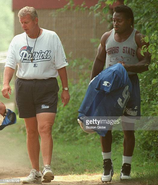 Bill Parcells during practice