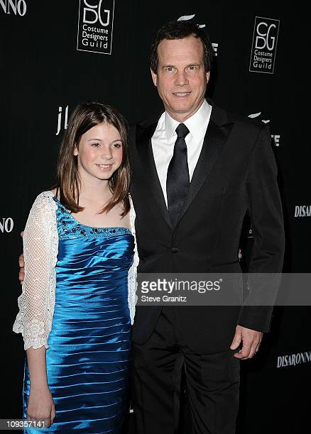 Bill Paxton and daughter Lydia Paxton arrive at the 13th Annual Costume Designers Guild Awards with presenting sponsor Lacoste held at The Beverly...