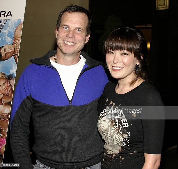 Bill Paxton and Lindsay Price during Broken Lizard's Club Dread Los Angeles Premiere at The Mann Chinese 6 in Hollywood California United States