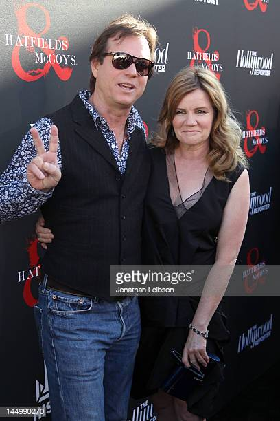"""Bill Paxton and Mare Winningham attend the Los Angeles premiere of """"Hatfields & McCoys"""" at Milk Studios on May 21, 2012 in Los Angeles, California."""