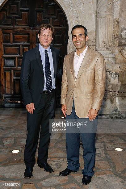 Bill Paxton and Texas General Land Commissioner George P Bush attend the Texas Honors event to celebrate the epic new HISTORY miniseries Texas Rising...