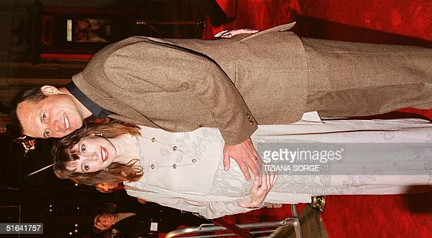 Bill Paxton star of the movie 'Titanic' and his wife Louise arrive at the premier of the movie in Hollywood California 14 December The movie opens to...