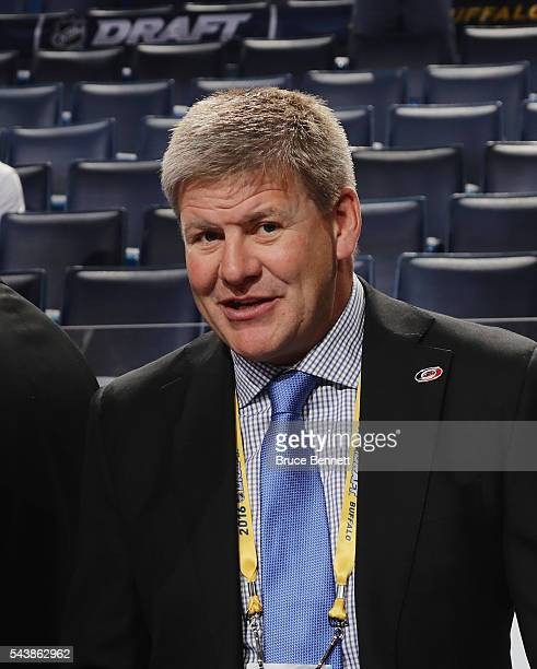 Bill Peters of the Carolina Hurricanes attends the 2016 NHL Draft on June 25 2016 in Buffalo New York