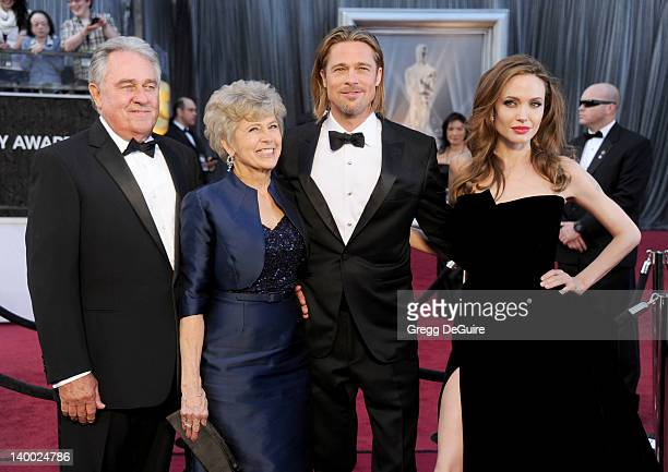 Bill Pitt Jane Pitt Brad Pitt and Angelina Jolie arrive at the 84th Annual Academy Awards at Hollywood Highland Center on February 26 2012 in...
