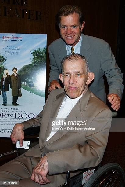 Bill Porter and William HMacy get together at a screening of Door to Door at the Museum of Television and Radio The TV movie is based on Porter's...