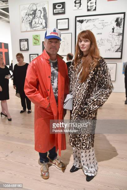 Bill Powers and Brianna Lance attend the Opening Reception For Andy Warhol â From A To B And Back Again Hosted By Calvin Klein at The Whitney Museum...