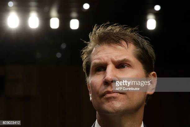Bill Priestap assistant director for the FBI's Counterintelligence Division waits to testify before the Senate Judiciary Committee Full committee...