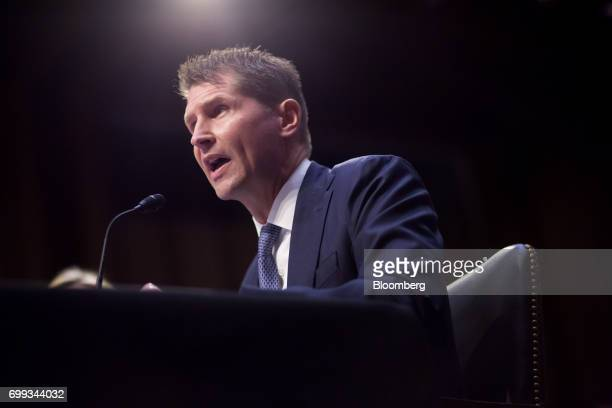 Bill Priestap assistant director of counterintelligence for the Federal Bureau of Investigation speaks during a Senate Intelligence Committee hearing...