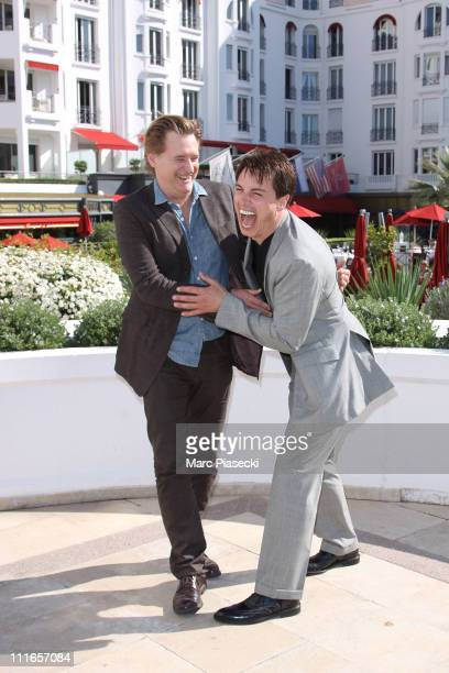 Bill Pullman and John Barrowman attend the 'Torchwood' photocall during the MIPTV 2011 at Hotel Majestic on April 5 2011 in Cannes France
