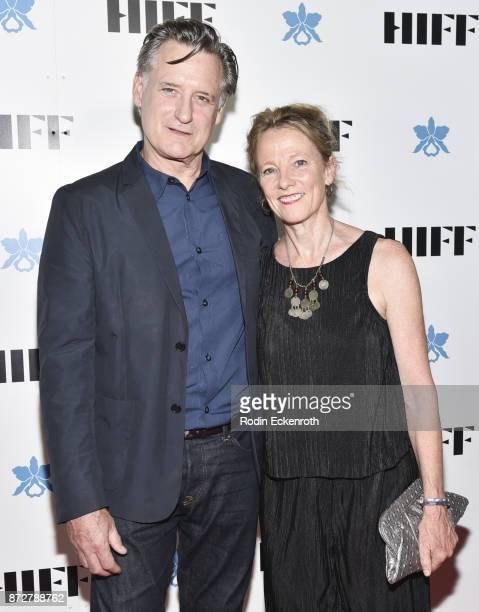 Bill Pullman and Tamara Hurwitz attend the 37th Annual Hawaii International Film Festival Gala presented by Halekulani on November 10 2017 in...