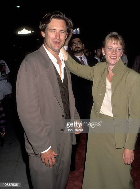 Bill Pullman and Tamara Hurwitz during World Premiere of 'Malice' September 29 1993 at Academy Theater in Beverly Hills California United States