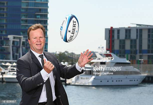 Bill Pulver poses for a portrait during the 2013 Australian Super Rugby Launch at Sketch Central Pier on February 13 2013 in Melbourne Australia