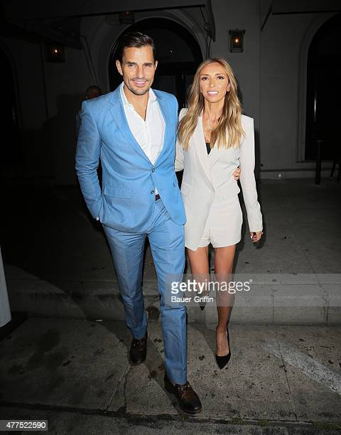 Bill Rancic and Giuliana Rancic are seen leaving Craig's restaurant in Hollywood on June 17 2015 in Los Angeles California